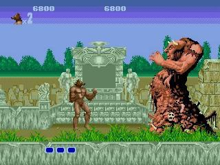Personagem já após a metamorfose, no Mega Drive